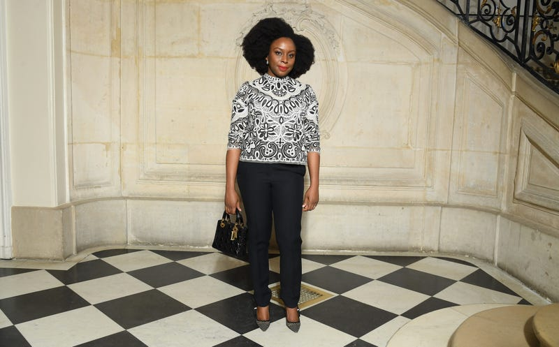 Chimamanda Ngozi Adichie attends the Christian Dior show on February 26, 2019 in Paris, France.