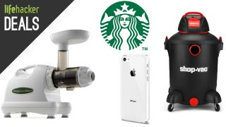 Illustration for article titled Deals: $5 Smartphone Cases, Cheap Shop-Vac, Starbucks, Awesome Juicer