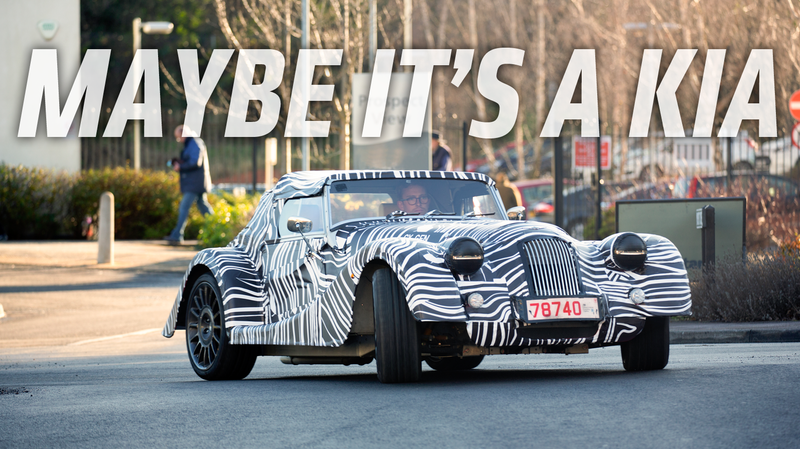 Illustration for article titled It's Kind of Amazing That Morgan Even Bothers to Camo Their New 'Wide Body' Car