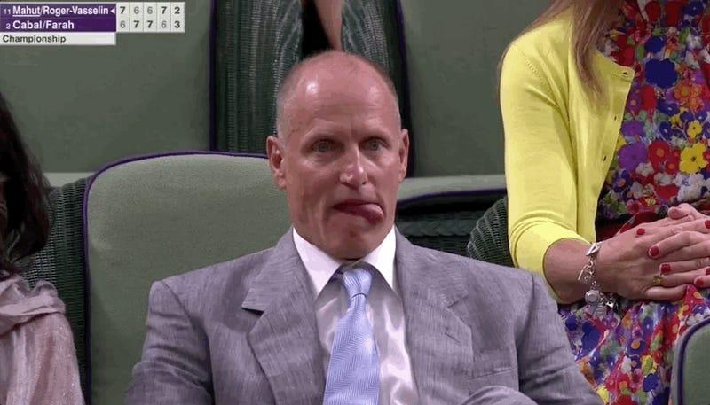 Nobody Had More Fun Watching Wimbledon Than Woody Harrelson Did