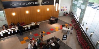 North Atlanta High School's lobby (Dustin Chambers/the New York Times)