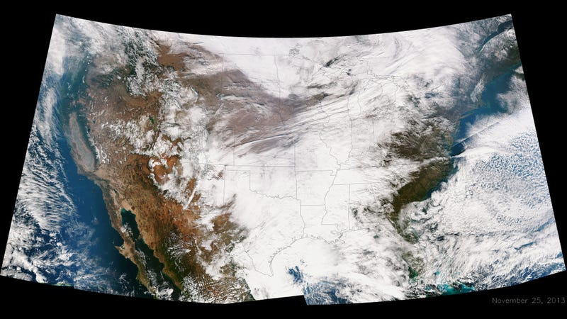 Illustration for article titled Photo: This giant winter storm is devouring the US right now