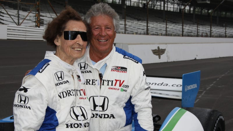 Illustration for article titled World's Coolest 102-Year Old Lets Mario Andretti Drive Her At 200 MPH