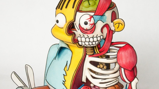 Illustration for article titled This Cross Section of Ralph Wiggum isn't a drawing, it's a Cake