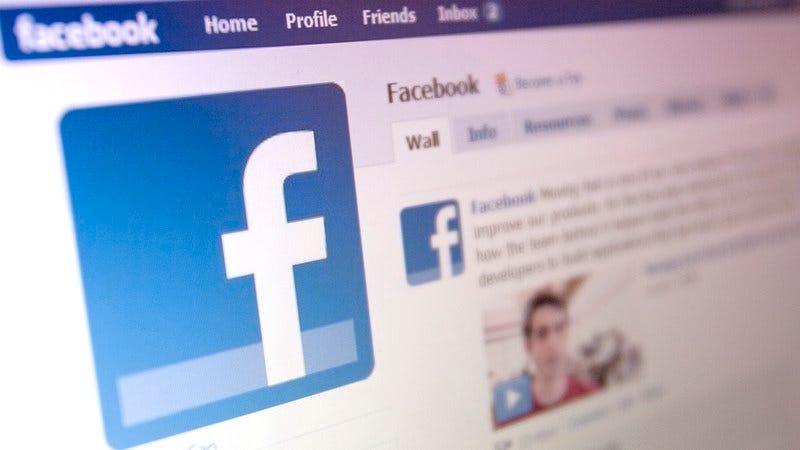 The Facebook interface