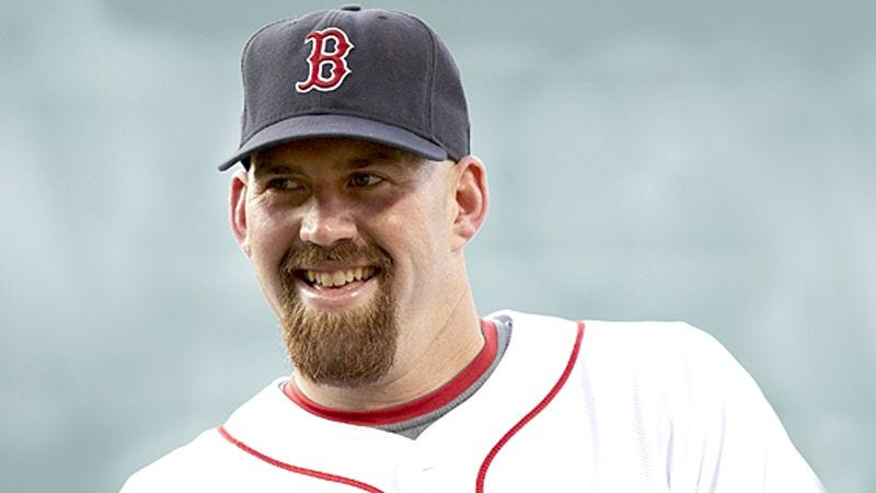 Illustration for article titled Kevin Youkilis Puts Sign-Up Sheet For Threesome In Red Sox Dugout
