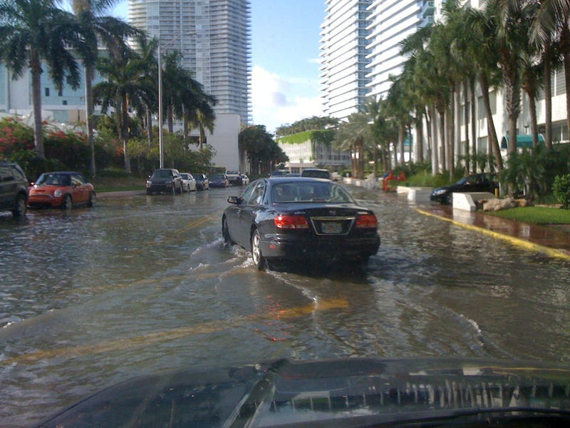 """Illustration for article titled """"With six feet of sea-level rise, South Florida is toast."""""""