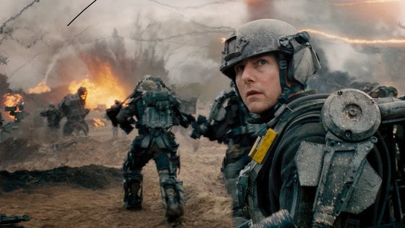 Illustration for article titled Edge Of Tomorrow sequel hires Race writers to kill Tom Cruise again (and again)