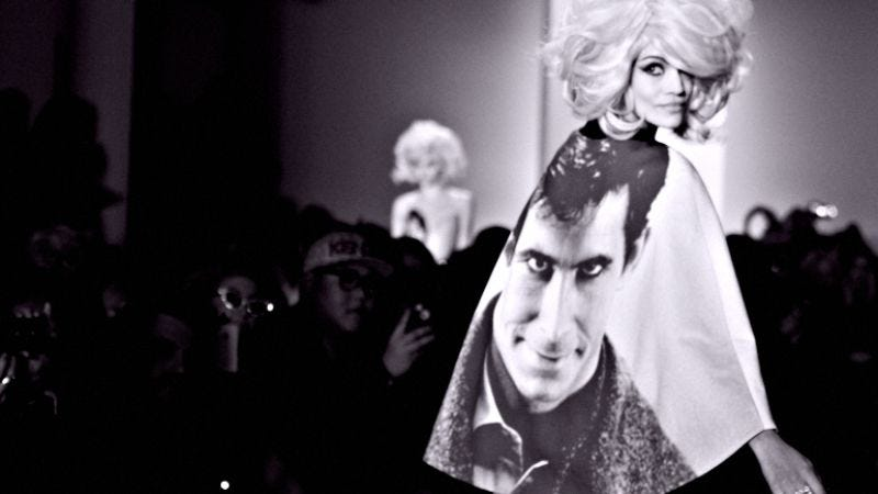 Illustration for article titled Classic Hollywood horror films make for killer dresses in this psycho fashion show