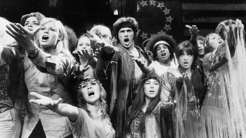 A production of Hair in 1968