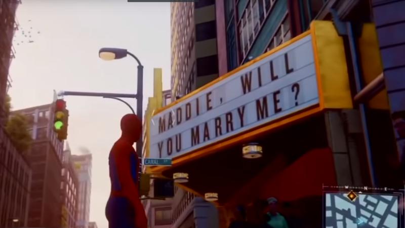 Illustration for article titled Una propuesta de matrimonio oculta en el juego de Spider-Man se convierte en el huevo de Pascua más triste de la historia