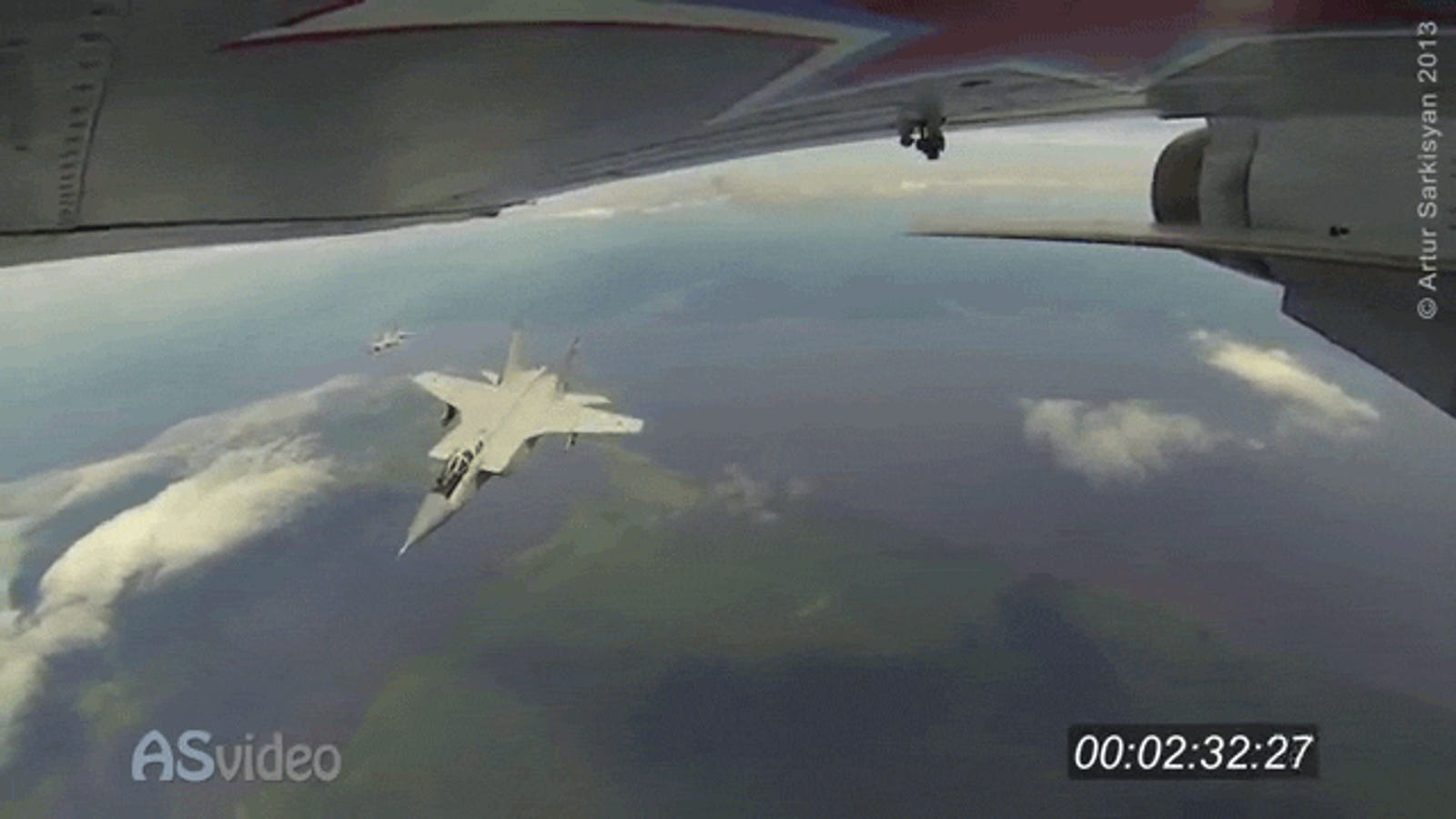 What it's like to fly a fighter jet—strapped to its wing