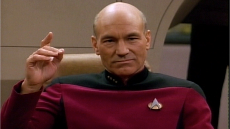Illustration for article titled Patrick Stewart Predicts Humanity's Future
