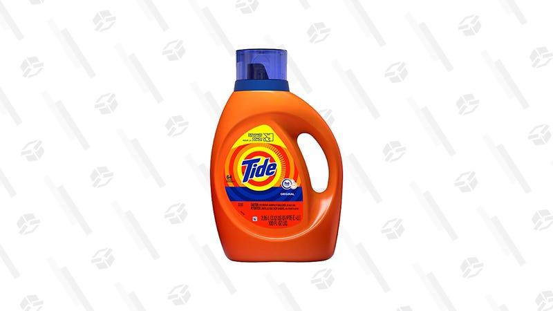 Tide HE 100 oz | $9 | Amazon | Usa el cupón de $3