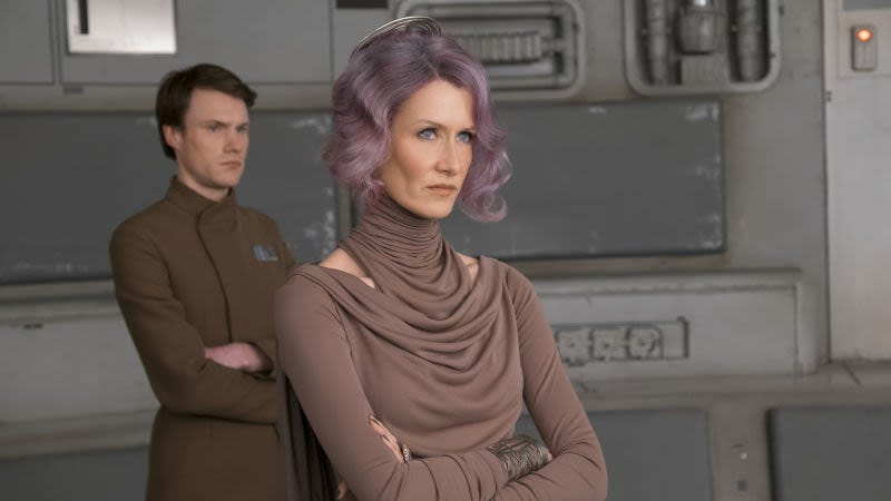 "Laura Dern apparently couldn't stop saying ""pew"" when she fired her laser gun in The Last Jedi"