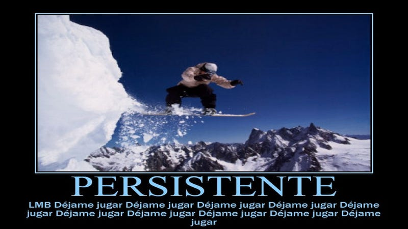 Illustration for article titled Today In Jose Canseco Tweets As Motivational Posters: Persistente
