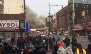 Illustration for article titled Felrobbant és összedőlt egy ház New Yorkban