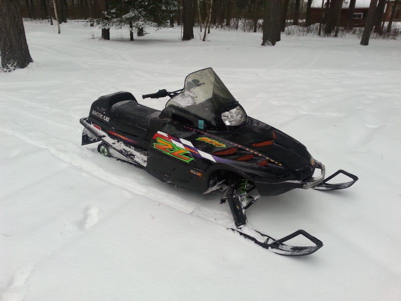 My not-at-all pristine 1998 Arctic Cat ZL500 from last year.