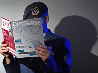 A gay member of the U.S. Air Force who wishes not to be identified (Paul J. Richards/A