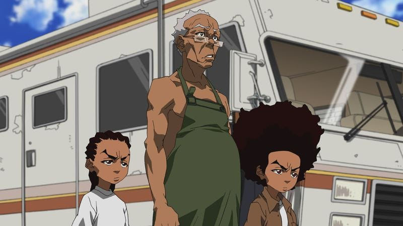 "Illustration for article titled The Boondocks: ""Breaking Granddad"""