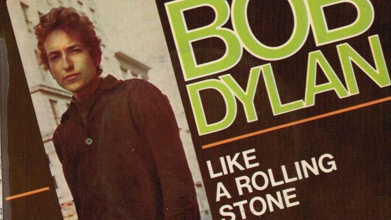 """Illustration for article titled The many spins on """"Like A Rolling Stone,"""" from Bob Marley to Green Day"""