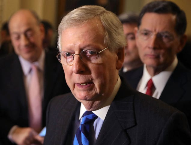 Mitch McConnell Reminds Senators That They'll Have To Make Up Government Shutdown Days At End Of Year