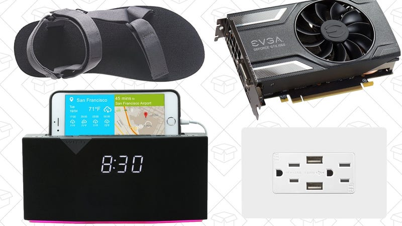 Illustration for article titled Today's Best Deals: Smart Alarm Clock, Teva Sandals, USB Power Outlets, and More