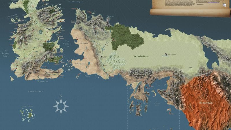 Illustration for article titled This interactive Game Of Thrones map has everything