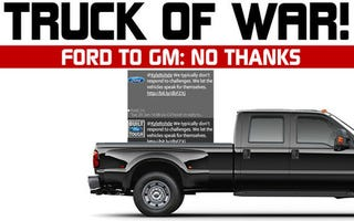 """Illustration for article titled Ford Say """"Truck No"""" To GM Tug-Of-War Challenge"""