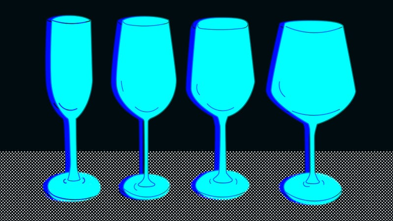 Illustration for article titled A master sommelier schools us in how to choose a wine glass