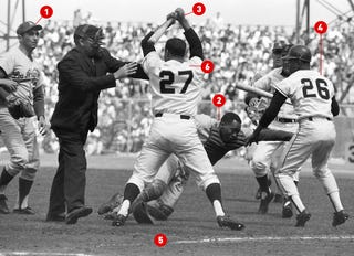 Illustration for article titled What Baseball's Most Famous Brawl Photo Didn't Show You