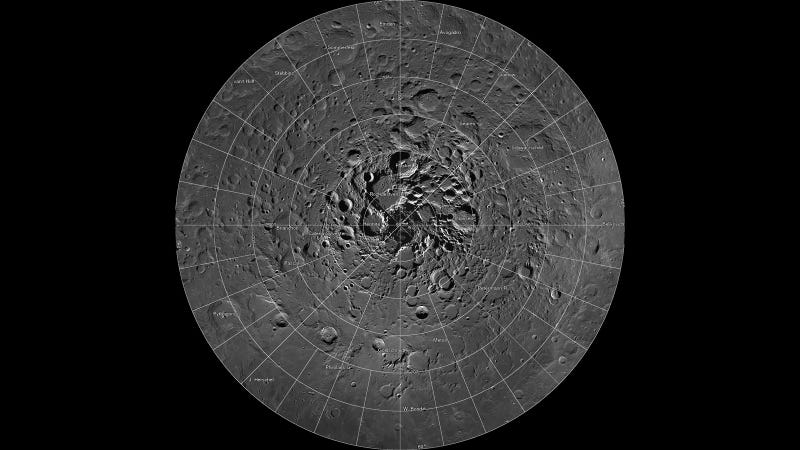 Illustration for article titled Explore the Moon's North Pole With This Gargantuan Photo Mosaic