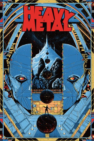 Illustration for article titled This Mondo Heavy Metal poster is set to be released at Comic Con