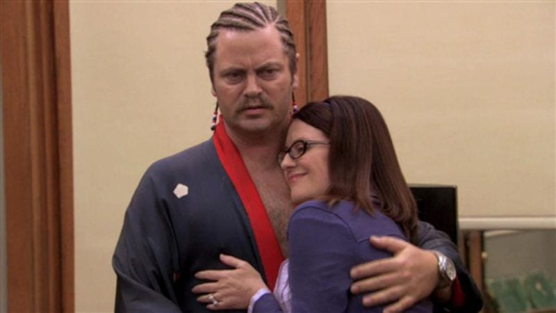 Illustration for article titled Ask Nick Offerman and Megan Mullally your relationship questions