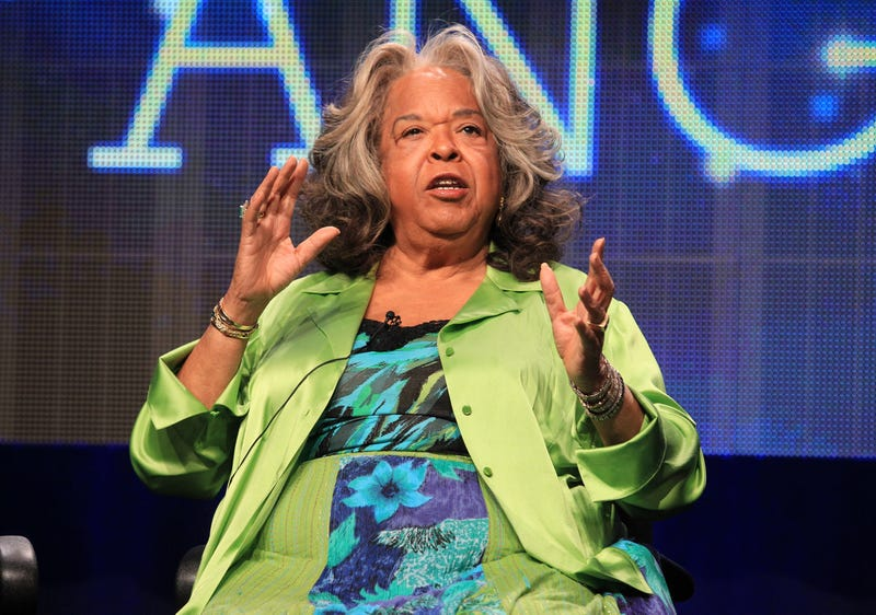 "Actress Della Reese speaks at the ""Christmas Angel"" discussion panel during the 2012 Summer Television Critics Association tour at the Beverly Hilton Hotel on Aug. 2, 2012, in Los Angeles. (Frederick M. Brown/Getty Images)"