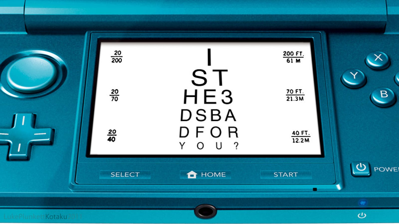 So I Took My 3DS To The Eye Doctor