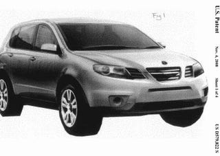 Illustration for article titled GM Files Patents For Tribeca-Based Saab 9-6X, Tale Of The Saaburu Maybe Not Complete