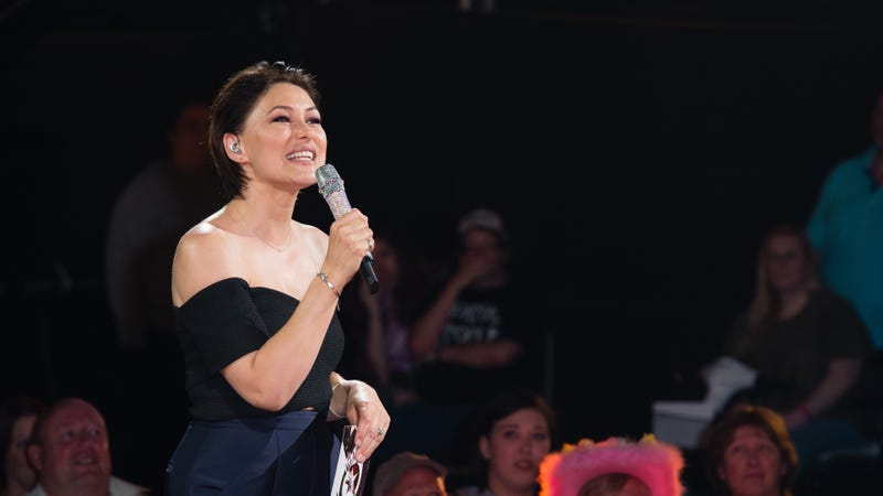 Emma Willis, host of Celebrity Big Brother, who will return for the FEMINISM SLAY version in January. Image: Getty