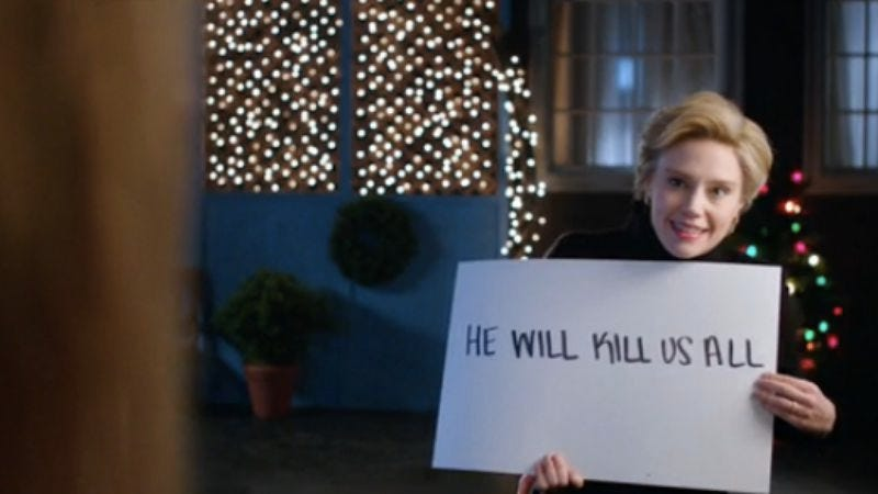 Illustration for article titled Hillary Clinton woos the electoral college on SNL, with help from Love Actually
