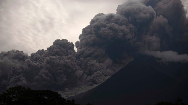 Eruption of Fuego volcano, June 3, 2018.