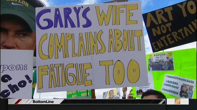 """Illustration for article titled """"Gary's Wife Complains About Fatigue Too"""": Your College GameDay Signs"""