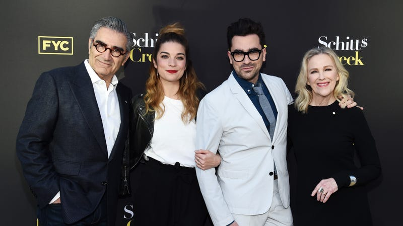 Illustration for article titled The Cast of Schitt's Creek Really Raided the Props Department