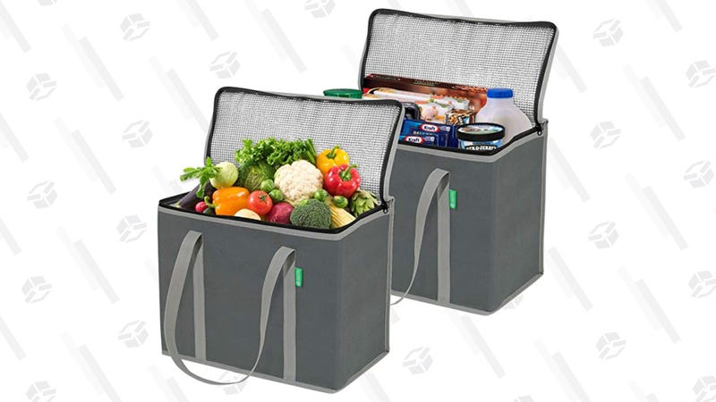 Insulated Grocery Shopping Bags, 2-Pack Gray | $20 | Amazon