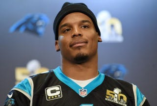 Quarterback Cam Newton of the Carolina PanthersThearon W. Henderson/Getty Images