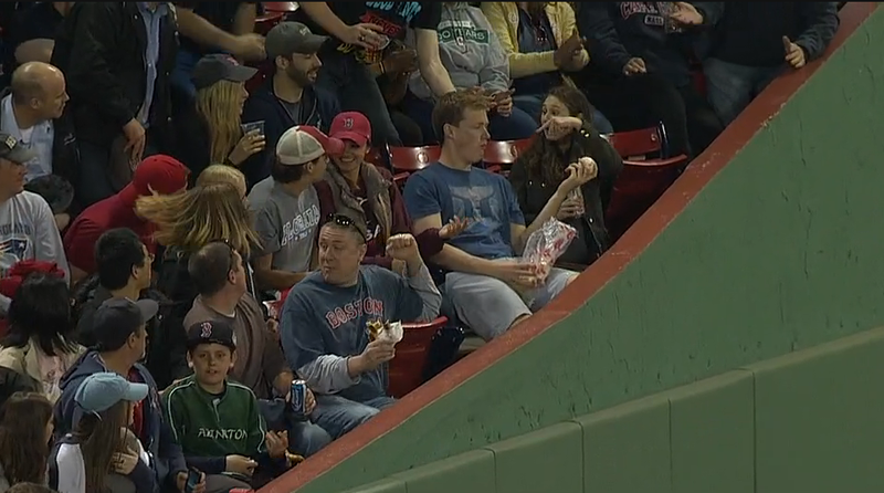 Illustration for article titled Fan At Fenway Catches Ground-Rule Double In The Most Casual Way