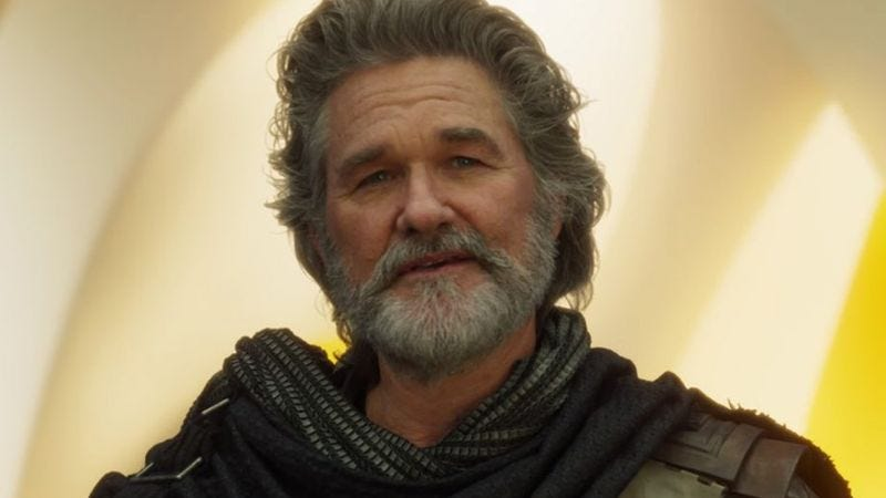 Kurt Russell as Ego The Living Planet, in the trailer for Guardians Of The Galaxy Vol. 2.