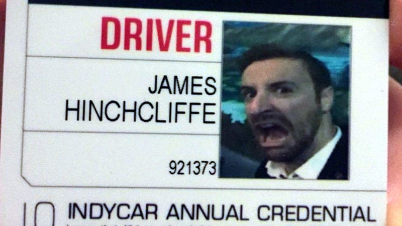 Illustration for article titled James Hinchcliffe Put The Best Photo Ever On His IndyCar License