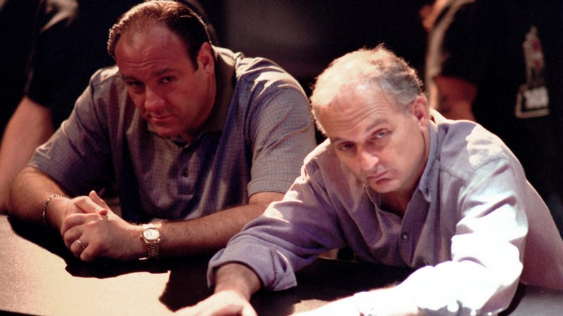 James Gandolfini and David Chase
