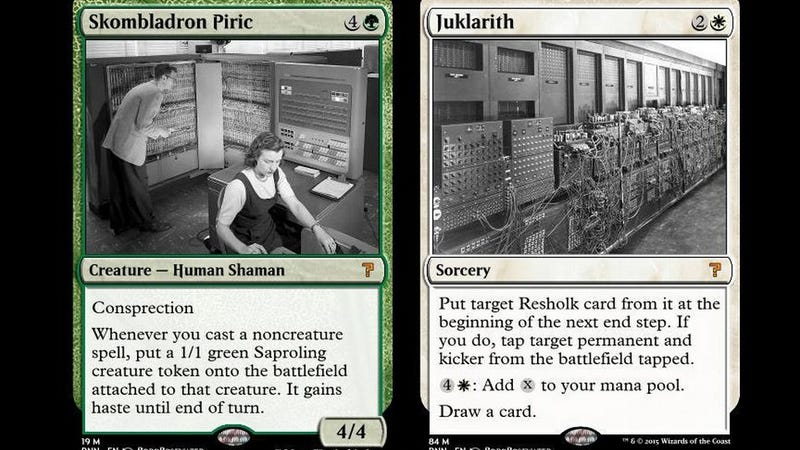 Illustration for article titled A Neural Network DesignsMagic: the Gathering Cards, and It's Hilarious