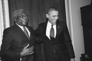 Rep. James Clyburn (D-S.C.) and President Barack ObamaCourtesy Rep. Clyburn's office